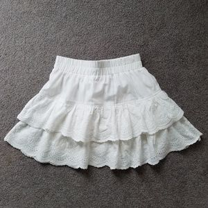 Dresses & Skirts - Embroidered Ruffle Mini Skirt